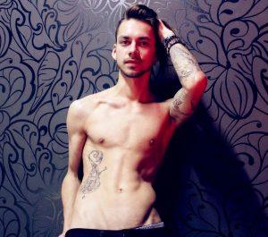 Skinny gay guy sex cam show